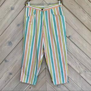 Vintage Newport News Striped High Rise Pants